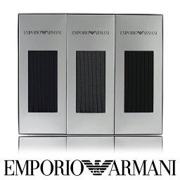【送料無料】EMPORIO ARMANI ( エンポリオ アルマーニ ) メンズ ソックス オールシーズン用 靴下 Dress リブ クルー丈 ソックス ブランド靴下3足組ギフトセットプレゼント 誕生日 ギフト 贈答品 お祝いEA-3Pポイント10倍