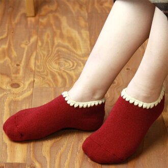 NAIGAI - 女士家居襪 [ 船襪 ] [ 標準款式 ] / 襪口刺繡圖紋 / 保護雙腳於冰冷地板 / 3041-231 / 日本製 / 所有産品均享10倍積分 !!
