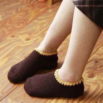 NAIGAI - 女士家居襪 [ 船襪 ] [ 足底防滑矽膠款式 ] / 襪口刺繡圖紋 / 保護雙腳於冰冷地板 / 3041-240 / 日本製 / 所有産品均享10倍積分 !!