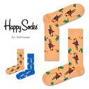 セール!40%OFFHappy Socks ハッピーソックスPARROT ( パロット )クルー丈 綿混 ソックス 靴下ユニセックス メンズ & レディスプレ..