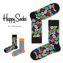 【ポイント20倍】Happy Socks ハッピーソックスTWISTED SMILE ( ツイスト スマイル )クルー丈 綿混 ソックス 靴下ユニセックス メン..