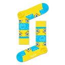 ハッピーソックス【Limited】Happy Socks × Sponge Bob ( スポンジ・ボブ ) SAY CHEESE BURGER ( セイ・チーズバーガー )クルー丈 ソックス 靴下ユニセックス メンズ & レディス プレゼント 贈答 ギフト1A413011