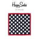 【送料無料+ポイント20倍】Happy Socks ハッピーソックスBIG DOT ( ビッグ ドット ) タオル ハンカチ (ミニタオル) 25×25cmユニセ..