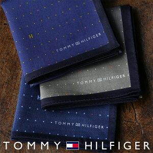 TOMMY HILFIGER|トミーヒルフィガー 無料 トミー ブランド ラッピング OKピンドット柄 綿100% ハンカチ2582-103男性 メンズ ・・・