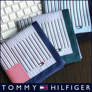 TOMMY HILFIGER|トミーヒルフィガー 無料 トミー ブランド ラッピング OKストライプチェック柄 綿100% ハンカチ2582-111男性・・・