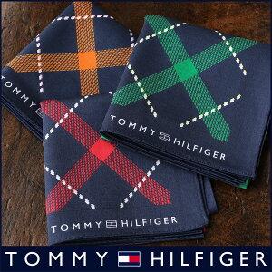 TOMMY HILFIGER|トミーヒルフィガー 無料 トミー ブランド ラッピング OKバイアスチェック柄 綿100% ハンカチ2582-116男性 ・・・