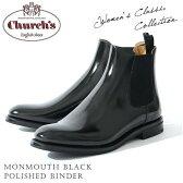 【送料無料】 チャーチChurch's レディース ショートブーツ サイドゴア Monmouth Black Polished Binder カーフレザー ブラック サイズ36/36.5/37/37.5/38/38.5 モードなデザイン 上質レザー使用 革靴 即日発送