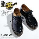 ドクターマーチン レディース 3ホールシューズ 1461Wパテント Dr.MARTENS 3EYE SHOES 1461W PATENTおじ靴 レースアップシューズ ブラック Black 10084001 シューズ|エナメルシューズ レディースくつ マーチン uk4 uk5 uk6