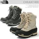 【送料無料】 ノースフェイス ブーツ レディース THE NORCE FACE スノーブーツ ウインターブーツ CHILKAT 400 Boots ブラック/黒/ブラウン ボア レースアップ 即日発送/