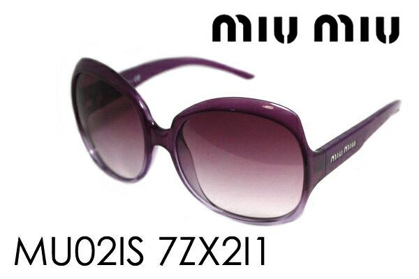 ミュウミュウ サングラス MU02IS 7ZX2I1 miumiu レディース