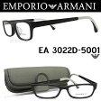 エンポリオ アルマーニ EMPORIO ARMANI メガネフレーム EA3022D-5001 【送料無料・代引手数料無料】 眼鏡 ブランド 伊達メガネ 度付き マットブラック メンズ glasspapa