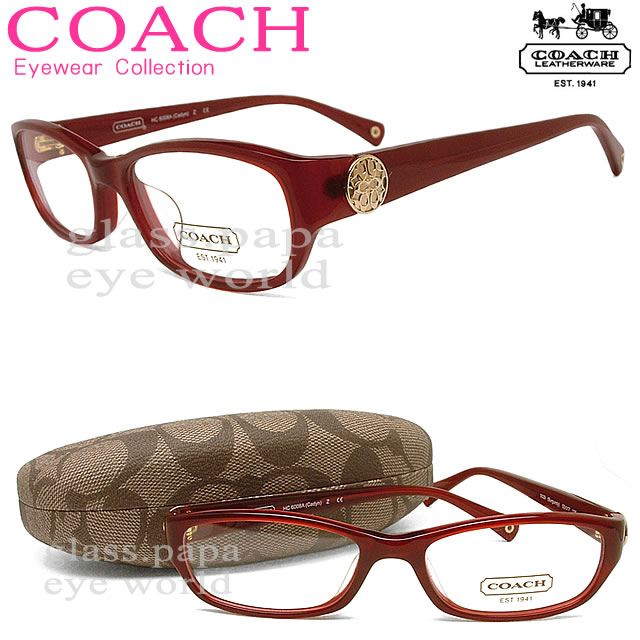 Coach Eyeglass Frames Burgundy : glasspapa Rakuten Global Market: (Coach) COACH ...