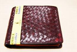 オリーチェレザーメッシュ二つ折り財布