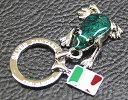 溢れる鍵をすっきりまとめる イタリア製シルバーキーリング【送料無料】イタリア製シルバーキーリング(カエル)【meisai0205_10】