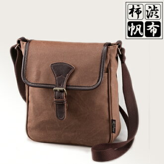 Persimmon Juice(Kakishibu) Canvas Mini-Shoulder Bag [Made In Japan]