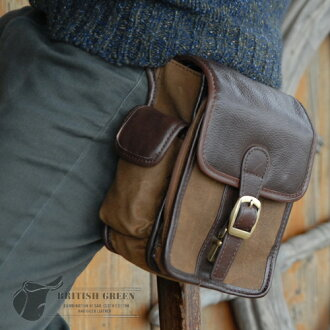 BRITISH GREEN / British green vertical waist bag