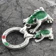 1000円OFFクーポン付き![送料無料]イタリア製シルバーキーリング(親子カエル)/SILVER MIRCO[10P06Aug16]