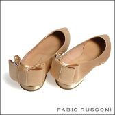 FABIO RUSCONI  ファビオルスコーニ  サテン ポインテッドトゥ バックリボン バレエ1798フラットシューズ/パンプス/パーティー/フォーマル 22.5cm 23cm 23.5cm 24cm 24.5cm