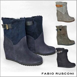 ファビオルスコーニ デザイン ムートン ショート イタリア製 ウェッジソ