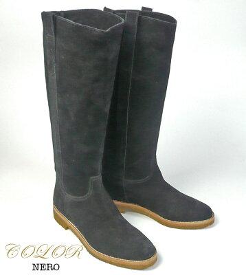 FABIORUSCONIファビオルスコーニベロアレザーウェスタン風ロングブーツ2205レディースシューズ靴革ブーツラバーソール22.5cm23cm23.5cm24cm24.5cm