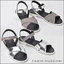 ファビオルスコーニ FABIO RUSCONI スエードレザー ストラップサンダル フラット 238...