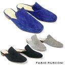 ファビオルスコーニ FABIO RUSCONI スエード ミュール 3588スリッパサンダル ミュー