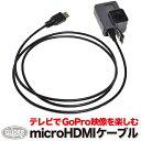 (HERO7Black/HERO6/HERO5/4 対応) microHDMIケーブル (gso02) テレビ 接続 GoPro 用 アクセサリー ゴープロ用 送料無料