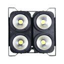 ステージライト LEDCOB4×100W 2in1 WARM3200K COOL6500Kブラインダー ストロボライト舞台 照明 DMX 業務用