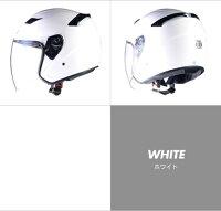 ★送料540円★ジェットヘルメットLEADリード工業STRAX(ストラックス)SJ-8W(ホワイト)