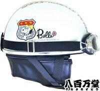 スヌーピービンテージヘルメット(ゴーグル付き)エンブレム/ホワイト0SS-GPSNVWフリーサイズ