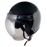 【TNK工業】XX-606XXLサイズシールド付ジェット型ヘルメット【0SS-GPXX606-K】ブラック【頭が大きい】【62〜64センチ】【ジェットタイプ】