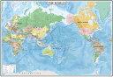 表面PP加工中判 THE WORLD     (英語版世界地図)