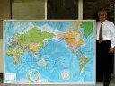 大判  THE WORLD(英語版世界地図)特大パネル大サイズ英語表記のパネル世界地図です。