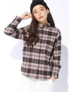 ソフトフランネルシャツ グローバル ブラウス