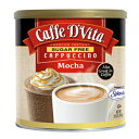 Caffe D'Vitaシュガーフリーモカインスタントカプチーノ、8.5オンスキャニスター(6個入り) Caffe D'Vita Sugar Free Mocha Instant Cappuccino, 8.5-Ounce Canisters (Pack of 6)