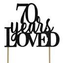 ショッピングAll すべての詳細ブラック70年愛のケーキトッパー All About Details Black 70-Years-Loved Cake Topper