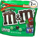 2, NEW M&M's Crunchy Mint Chocolate Candy Sharing Size 8 O
