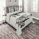 Ambesonne Airplane Bedspread Set Queen Size, Classic Nosta