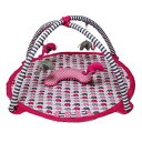 Bacati Elephants Activity Gym with Mat, Pink/Grey