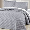"Home Soft Things Charleston Bedspread 80"" x 106"" Ash Gray"
