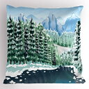 Ambesonne Forest Pillow Sham, Wildwood in Winter Season wi