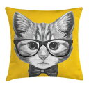 Ambesonne Animal Throw Pillow Cushion Cover, Sketchy Hand