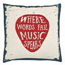 Ambesonne Rock Music Throw Pillow Cushion Cover, Where Wor