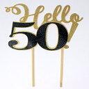 ショッピングパソコン All About Details Hello 50! Cake Topper,1pc, 50