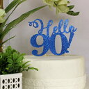 All About Details Blue Hello 90! Cake Topper