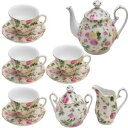 Gracie China by Coastline Imports Pink Rose Bouquet Rose C