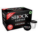 Shock Coffee Single Serve Cups. Up to 50% more