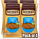 Snyder's of Hanover Unsalted Mini Pretzels, 12 Ounce (Pack