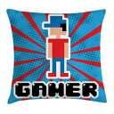 Ambesonne Video Games Throw Pillow Cushion Cover,