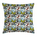 Ambesonne Butterfly Throw Pillow Cushion Cover, Re